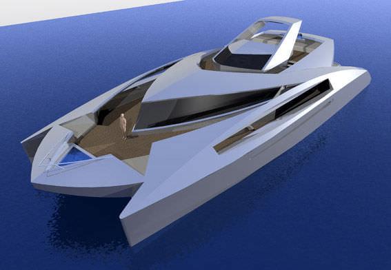 Katamaran segeln luxus  Motor-Katamarane Luxus-Superyacht / Fahrten / mit Ruderhaus ...