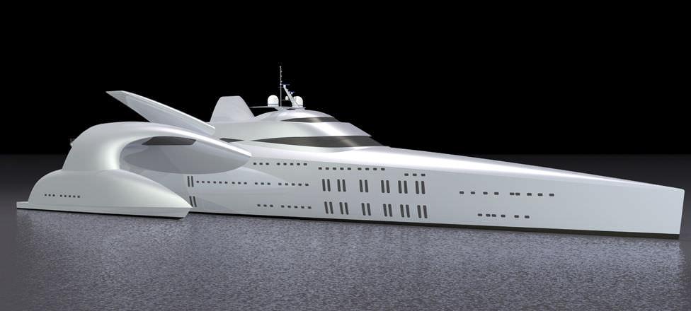 Luxus trimaran  Motor-Trimarane Luxus-Megayacht / Fahrten / mit Ruderhaus ...
