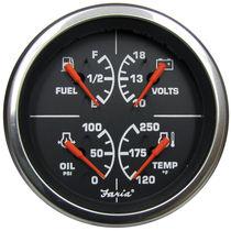 Standanzeige für Boote / Öldruck / Wassertemperatur / DC Amperemeter