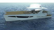 Boot mit Unterwassersicht / Katamaran / Innenborder