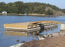 Schwimmender Ponton / zum Anlegen / für Yachthäfen / Beton