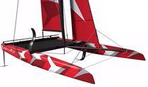Katamaran / Regatta Kielboot / One-Design / mit offenem Heck