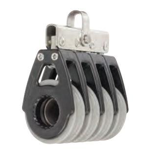 Block mit Gleitlager / 4-Fach / Bügel / max. Tau 12 mm