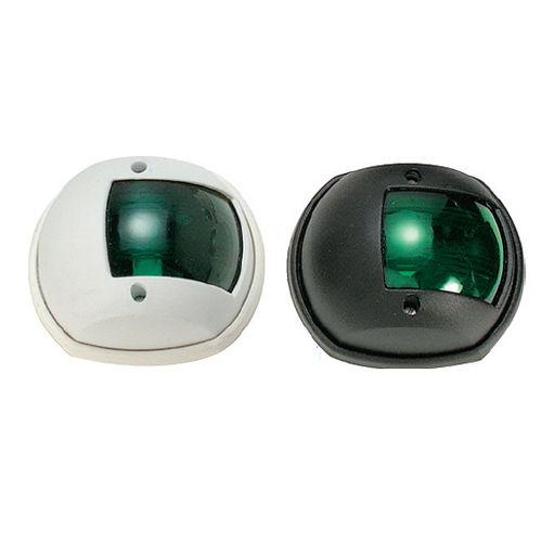Navigation Leuchte / zur Anwendung auf Booten / Glühlampen / grün / Heck