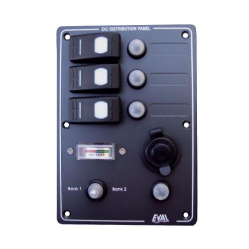 Schalttafel für Boote / wasserdicht / Strom / Voltmeter auf