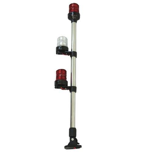 Leuchte für Ankerplätze / zur Anwendung auf Booten / Glühlampen / dreifarbig