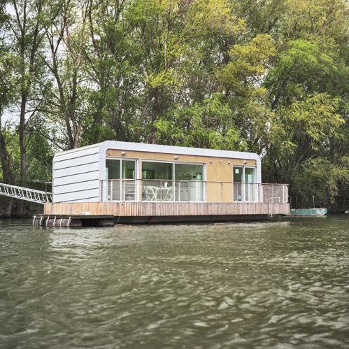 schwimmendes Haus