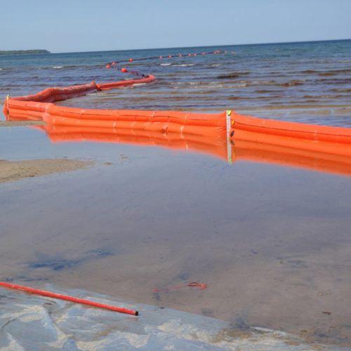 Sperre zur Schadstoffbekämpfung / schwimmend / für Fluss / für Tidenhubgebiet