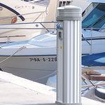 Wasserversorgung Säule / Stromversorgung / mit integrierter Beleuchtung / für Stege