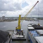 Hafenkran / für Knanschiff / Deck / mobil
