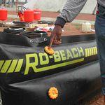 Sperre zur Schadstoffbekämpfung / aufblasbar / für Stillwasser