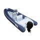 Außenbord-Schlauchboot / Festrumpf / Mittelkonsole / Glasfaser
