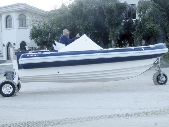 Amphibische Strecke durch Asis Boats