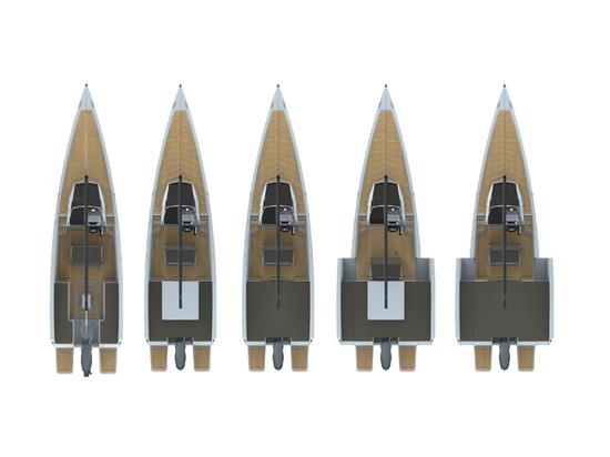 Ein Boot, viele Wahlen: Das neue motorisierte Segelboot Nuva MS6
