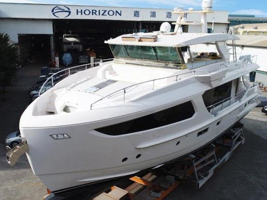 Modell der Horizont-Yachten FD77 nähert sich Fertigstellung