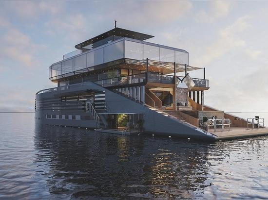 Innerhalb des 50 Meter superyacht Konzeptes angespornt durch skandinavisches Leben