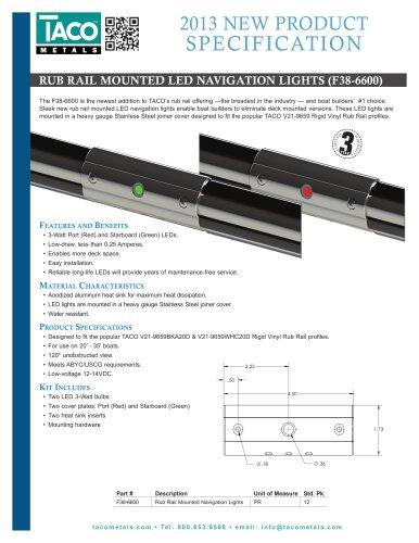 F38-6600 Rub Rail Mounted LED Navigation Lights