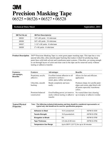 Precision Masking Tape 06525 • 06526 • 06527 • 06528
