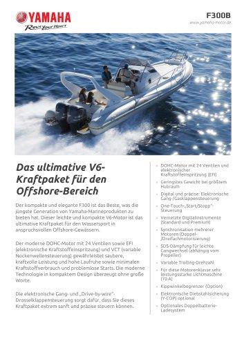 Das ultimative V6- Kraftpaket für den Offshore-Bereich