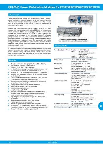 Power-Distribution-Module for 2210/3600/ESS20/ESS30/ESX10