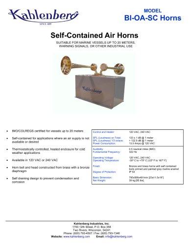 BI-0A-SC Industrial Air Horn