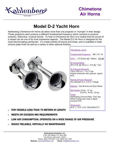 Model D-2 Yacht Horn