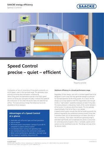 Speed Control precise – quiet – efficient