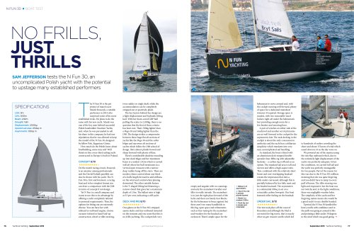 N Fun 30 Yachts & Yachting test