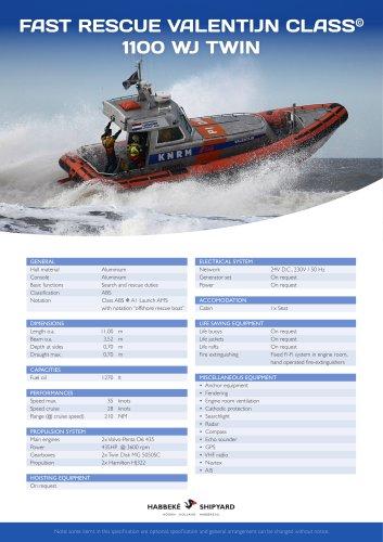 Fast Rescue Valentijn Class 1100 WJ Twin