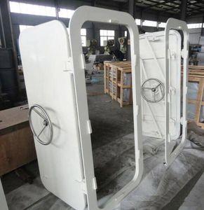 Tür für Schiffe / Vertikalschiebe / Seitenscharnier / wasserdicht