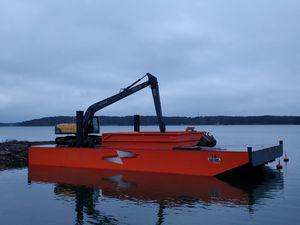 Bagger-Berufsboot / Innenborder