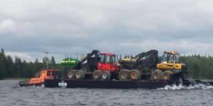Arbeitsfrachtkahn-Berufsboot
