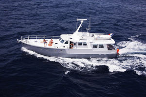 traditionelle Motoryacht