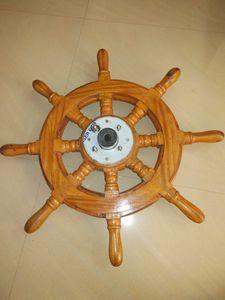 Motorboot Lenkrad / Holz