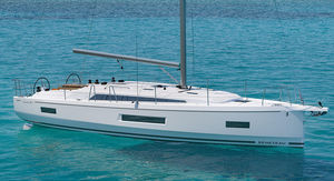 Fahrtensegelboot / mit offenem Heck / 2 oder 3 Kabinen / 3 oder 4 Kabinen