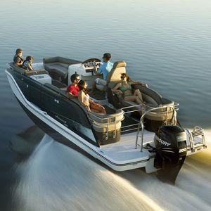 Außenbord-Pontonboot / Wasserski / Wakeboard / max. 14 Personen