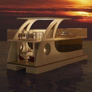 Katamaran-Hausboot