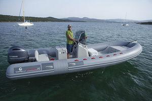 Außenbord-Schlauchboot / Festrumpf / Mittelkonsole / Open