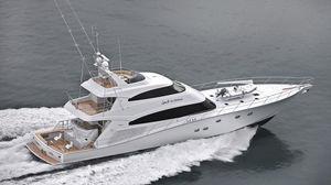 Sportfischer-Superyacht / Flybridge / Verbundwerkstoff / Verdränger Rumpf