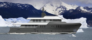 Superyacht für Expeditionen / Explorer / mit Ruderhaus
