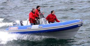 Berufsboot für Fischerei Berufsboot / Taucherbasisboot / Außenbord / Festrumpf-Schlauchboot