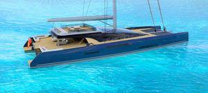 Segel-Superyacht / Katamaran