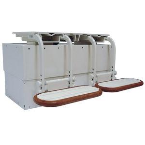 Untergestell für Steuermannstühle / für Boot / einstellbar / elektrisch / Aluminium