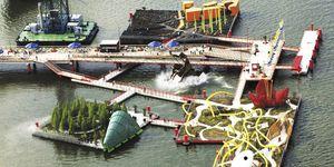 Schwimmstruktur für Events