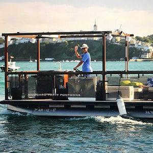 Außenbord-Pontonboot