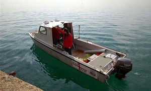 Forschungsboot Berufsboot / Außenbord