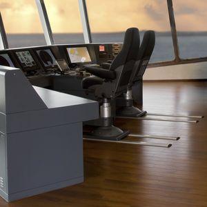 Untergestell für Steuermannstühle / für Schiffe / Schienen / Edelstahl