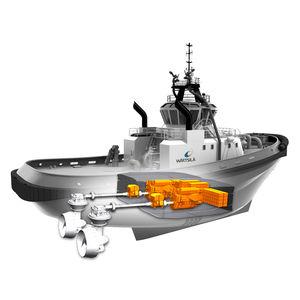 Antriebssystem für Schiffe / Hybrid Diesel/Elektro / mit Elektroantrieb
