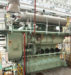 Langsamläufer-Schiffsmotor