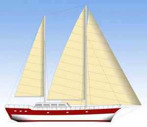 Segel-Yacht / Fahrten / mit geschlossenem Cockpit / Ketch